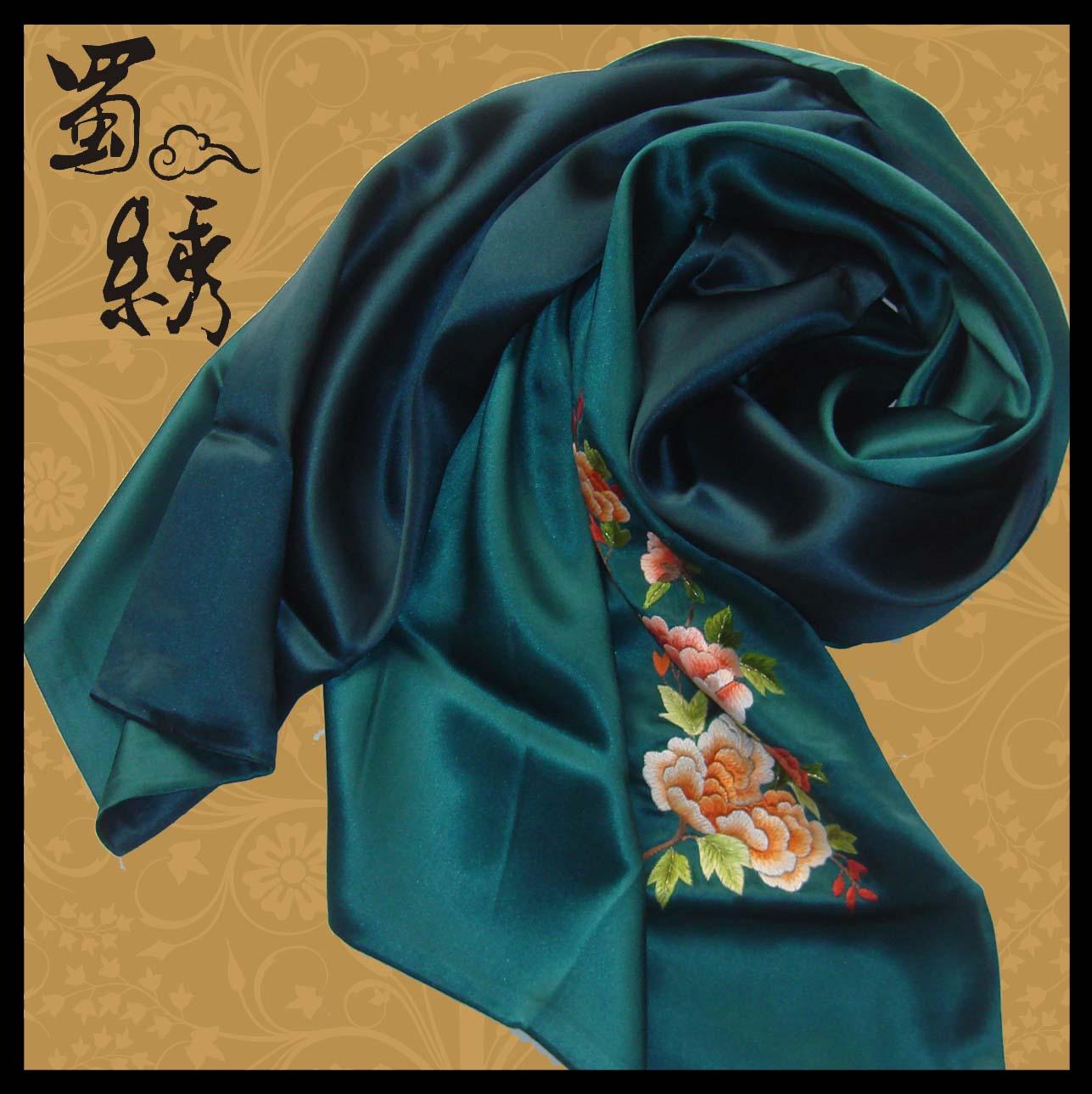 镜框系列 蜀绣 熊猫系列 太阳神鸟 花鸟动物 单面蜀绣 实用品 丝巾图片